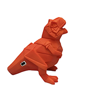 Dinosaurie LED lampa - liten, orange