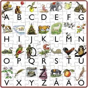 Mitt första alfabet, Elsa Beskow pussel