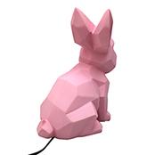 Kanin lampa - baby rosa, Euro plug