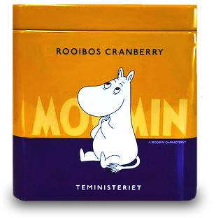 Mumin te i plåtburk, Rooibos + Tranbär