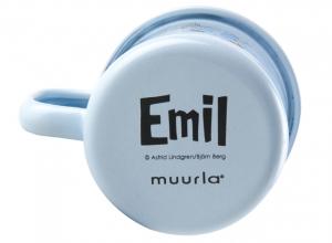 Emaljmugg, 1,5 dl - Emil, blå