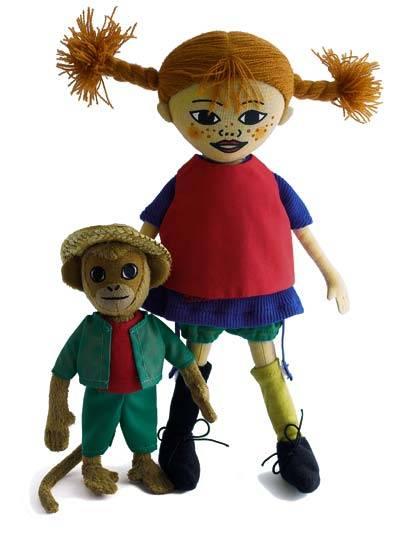 Pippi och Herr Nilsson dockor