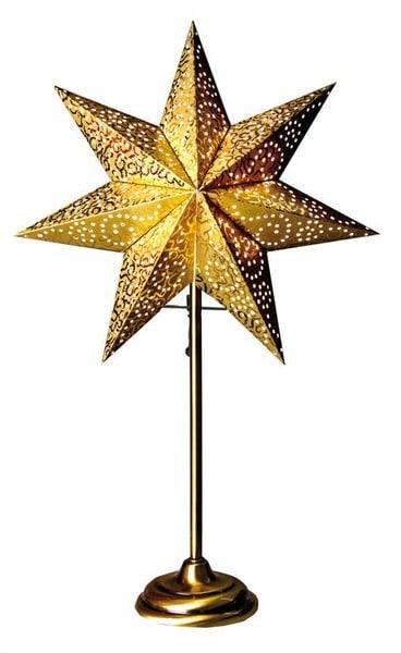 Antique star on base 34, gold
