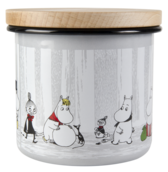 Moomin enamel jar - 1,3 L - Winter trip