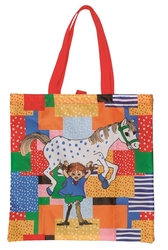 Pippi Longstocking foldable shopper