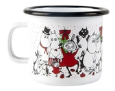 Moomin enamel mug 2,5 dl - Winter Magic
