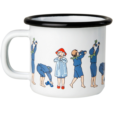 Elsa Beskow Blueberries emaljmugg 1,5 dl