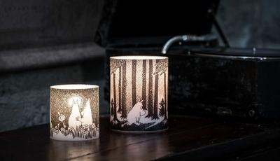 "Moomin lantern candle ""Moonlight, small"