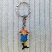 Pippi Longstocking keychain