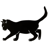Siluett Balanserande katt