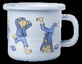 Enamel mug 2,5 dl - Emil - blue