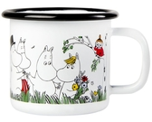 Moomin enamel mug 1,5 dl - Happy family