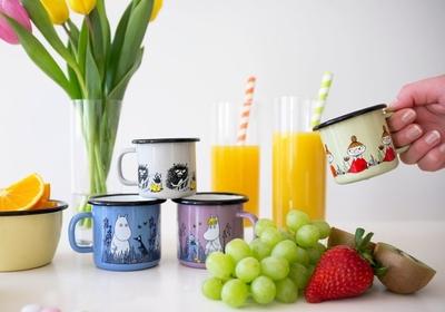 Moomin enamel mug 1,5 dl - Stinky (grey)