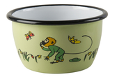 Enamel bowl 3 dl - Mr Nilsson, green