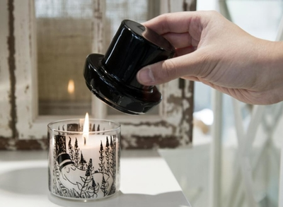 Candle in jar with lid, Moominpappa, 13,5 cm