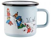 Pippi enamel mug, 3,7 dl - Winter plays