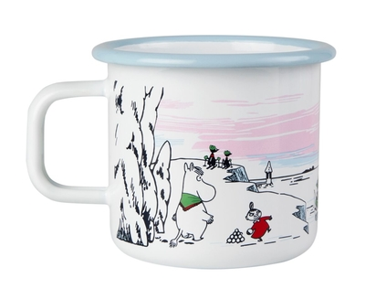 Moomin enamel mug 3,7 dl - Winter Time
