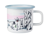 Moomin enamel mug 3,7 dl - Winter Time