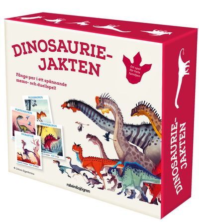 Dinosauriejakten memory/duellspel