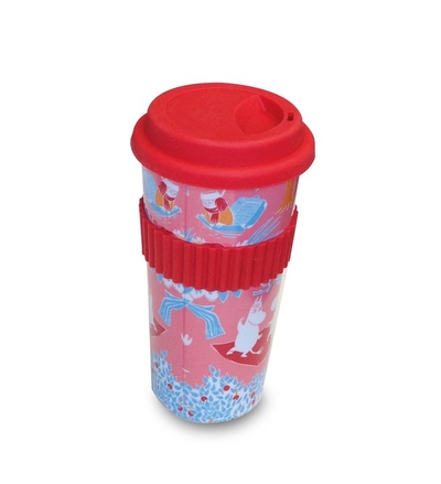 Moomin take-away-mug, retro pink