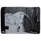 "Finlayson Moomin blanket ""Afternoon Moomin"", black/white"