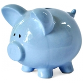 Money bank porcelain, baby blue