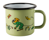 Enamel mug 1,5 dl - Mr Nilsson, green