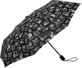 Mumin ihopfällbart paraply, svart