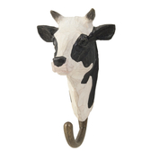 Hand carved hook Cow