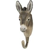 Handcarved hook Donkey