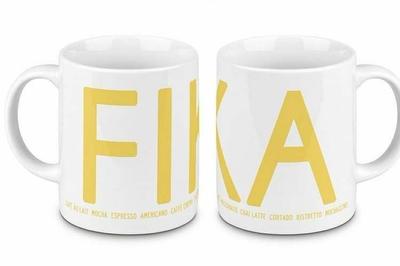 Fika mug, yellow