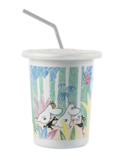 Moomin enamel tumbler - 5 dl - Moomins in the jungle
