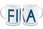 Fika mug, blue