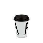 Fika take-away-mug, black