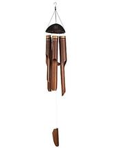 Vindspel av bambu - 40 cm, brun