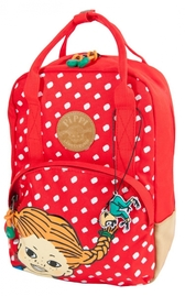 Pippi Backpack red with white dots