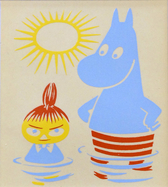 Moomin Limited Edition Print - Moomintroll & Little My 1956