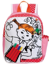 "Pippi Longstocking Backpack ""Color it yourself!"""