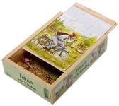 Pettson och Findus, 4 träpussel i låda