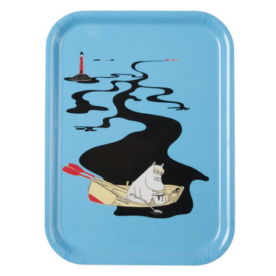 "Moomin tray ""Keep Sweden clean"" (blue)"
