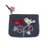 Love Birds, börs i handfiltad ull, Klippan