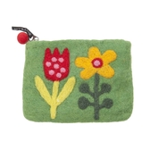 La Fleur, grön börs i handfiltad ull, Klippan