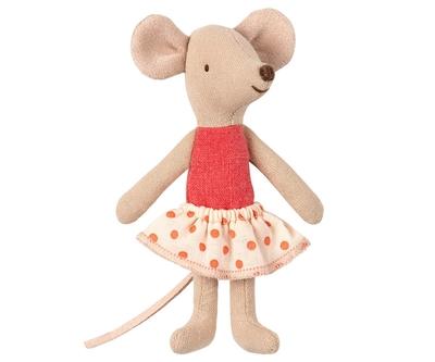 Maileg  - Micro mus, Lillasyster i ask