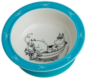 Moomin bowl with suction cup, blue