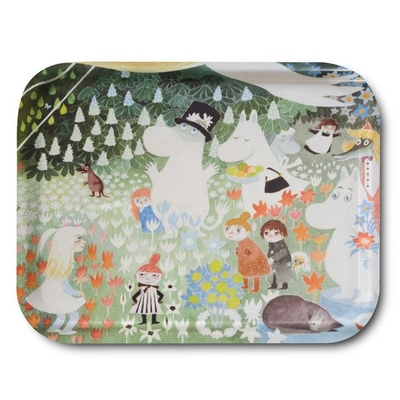 "Moomin tray ""Dangerous Journey"", multicolored"