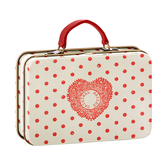 Maileg - Metal suitcase with red dots