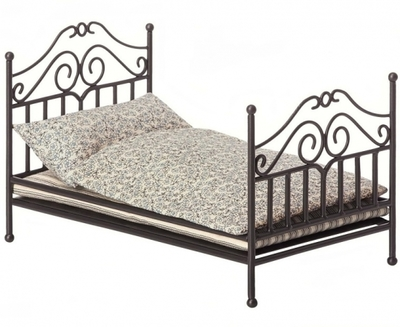 Maileg - vintage bed, grey, for Micro