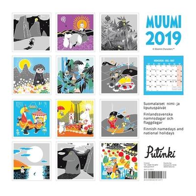 Mumin väggkalender 2019, 30x30