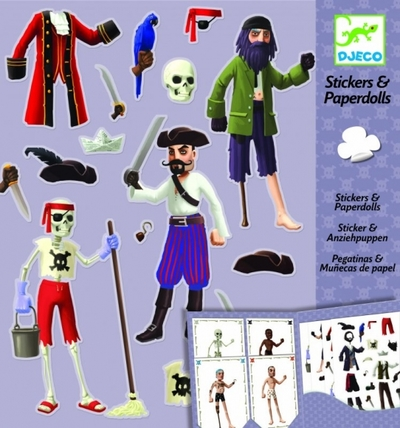 Djeco Sticker & paper dolls, Pirate