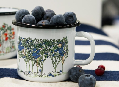 Elsa Beskow Blueberries emaljmugg 2,5 dl
